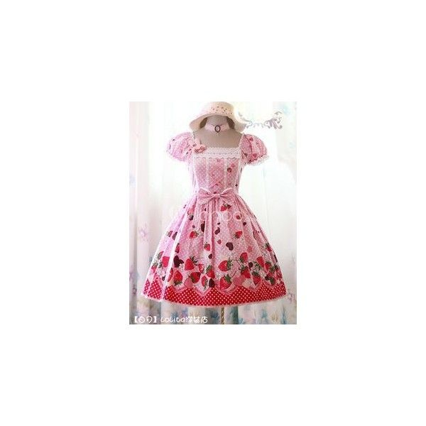 cupcake lolita dresses - Google Search ❤ liked on Polyvore featuring dresses and pink dress