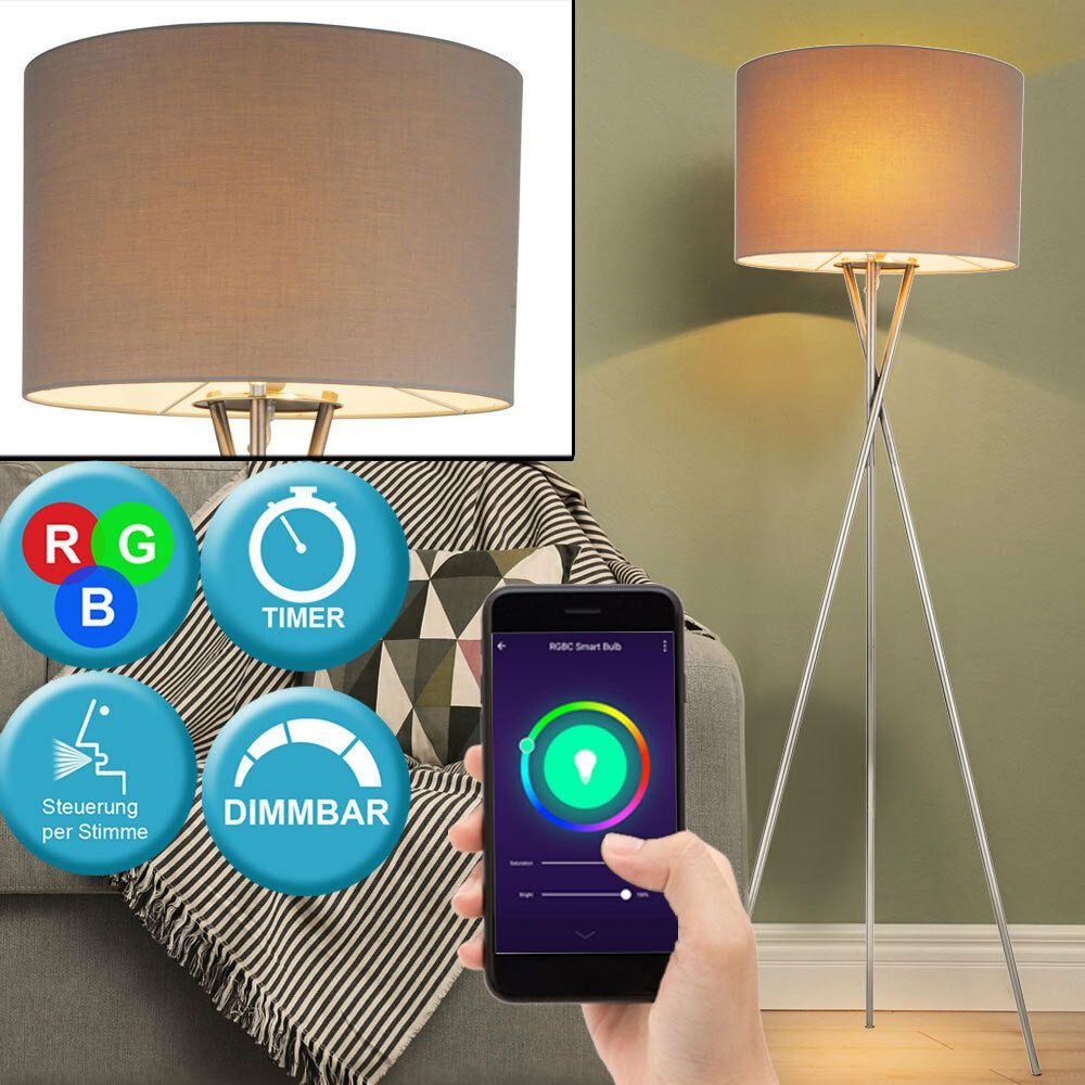 Smart Home Rgb Led Decken Fluter Google Steh Leuchte Dimmbar Alexa