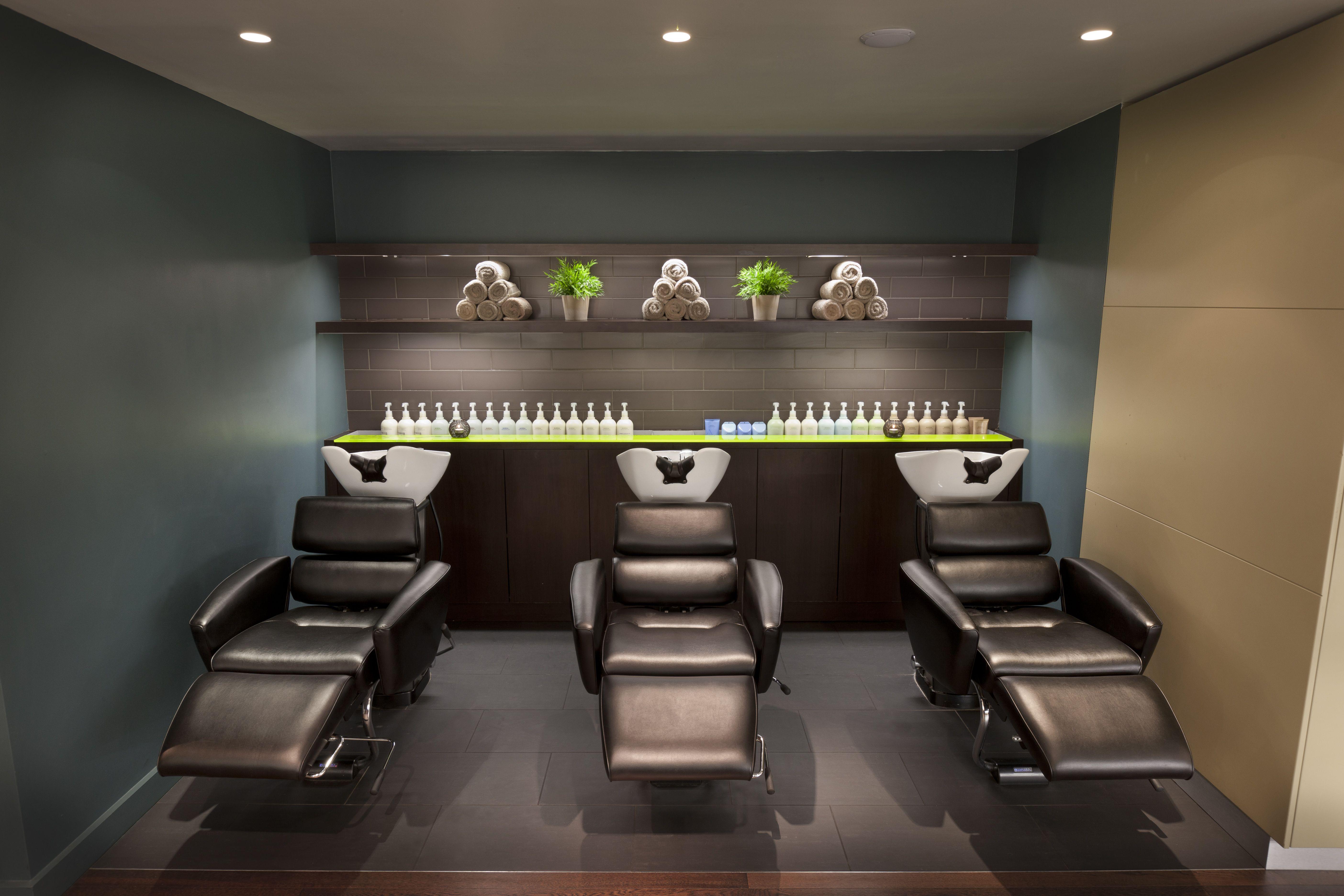 Gina conway aveda chelsea shampoo stations salon spa for Wash hair salon