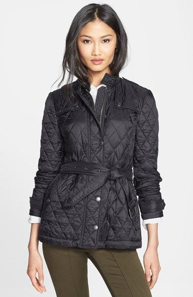 Burberry Brit Starkford Belted Quilted Jacket Nordstrom Nordstrom Anniversary Sale Quilted Jacket Burberry Outfit