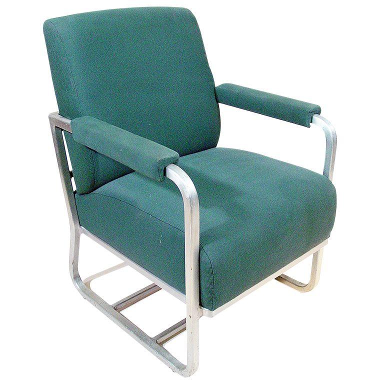aluminum pullman passenger train railroad lounge chair ** saturday