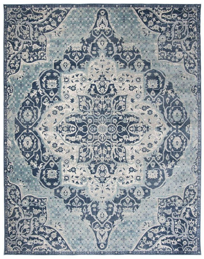 Safavieh Merlot Navy And Aqua 8 X 10 Area Rug In 2019
