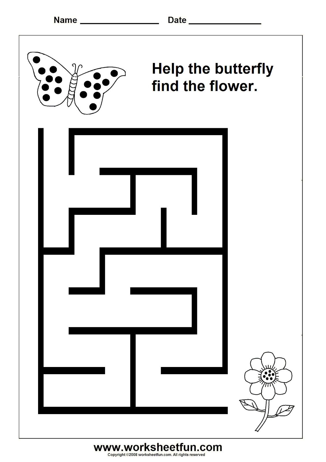 It is a graphic of Irresistible Maze for Kindergarten Printable Free