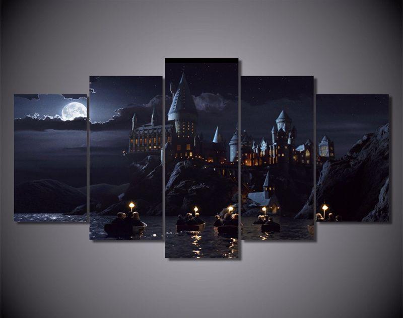 5 Stück Wandbilder Leinwand Harry Potter Schule Film Poster ...