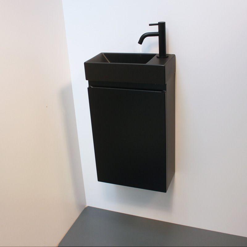 lave mains design noir meuble lave