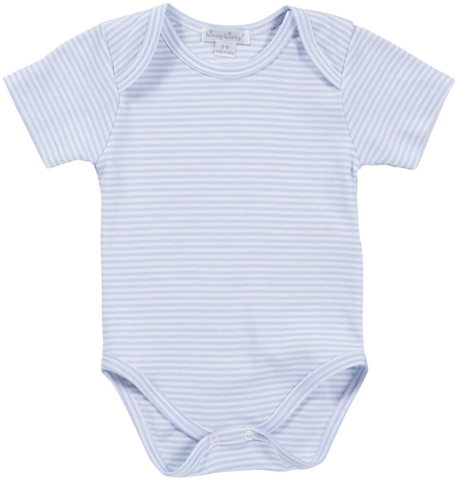 7186a4719 Kissy Kissy Baby Boys' S/S Stripe Bodysuit -Blue - 3-6 Months ...