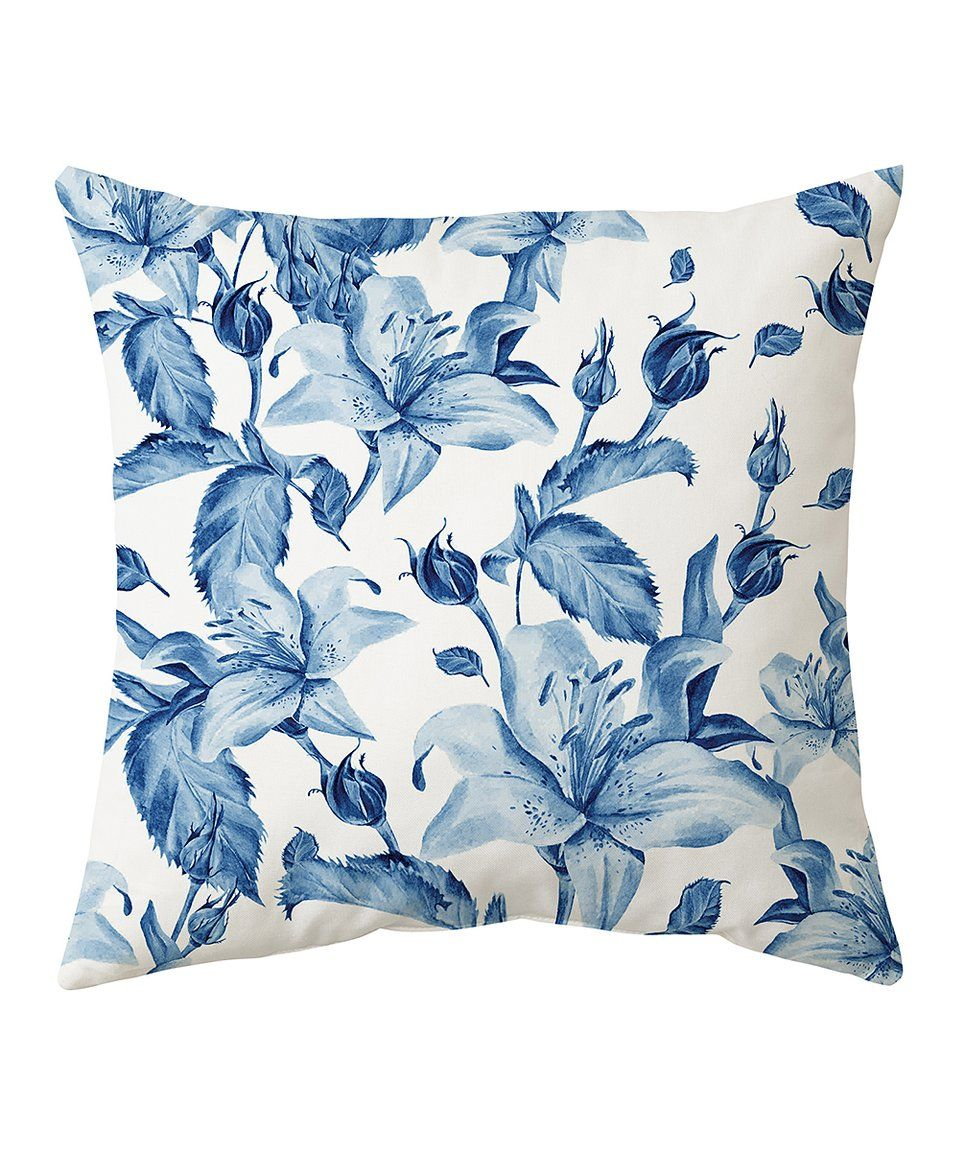Take a look at this blue floral sublimated throw pillow today