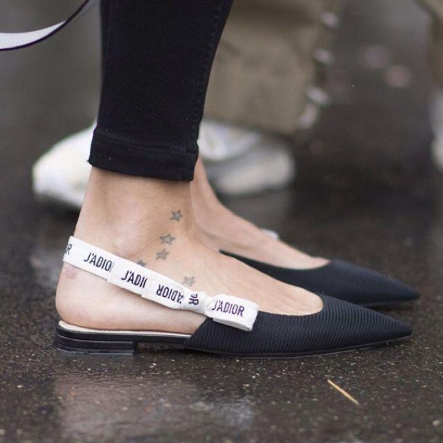 J Adior Ribbon Pointed Flats Trending Shoes Fashion Shoes Dream Shoes