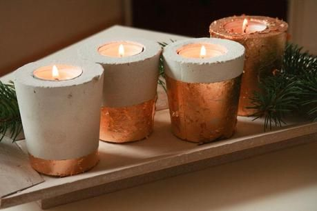diy beton kupfer kerzenhalter kerzenhalter diy beton. Black Bedroom Furniture Sets. Home Design Ideas