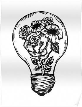 'flower lightbulb' Poster by Meagan Hein