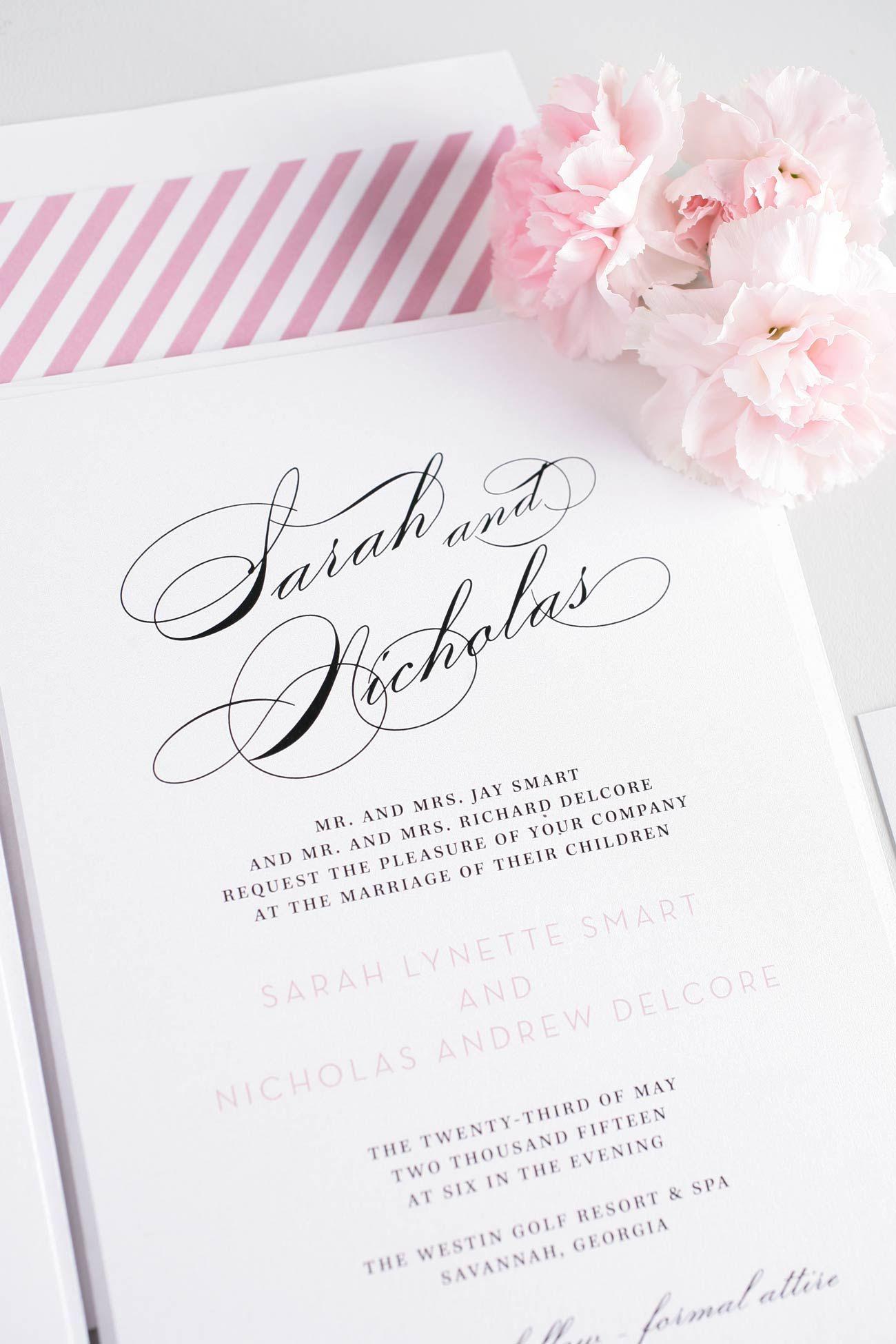 Delicadas y preciosas invitaciones de matrimonio #partes #gráfica #tipografia