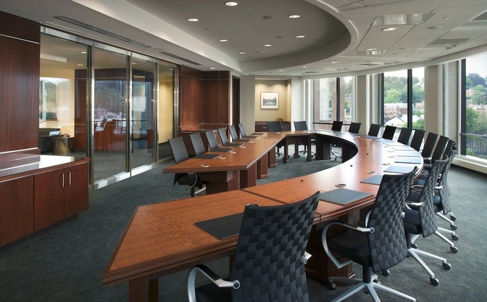 Curved Boardroom How Workspace Design Affects Workflow Favorite - Curved conference table