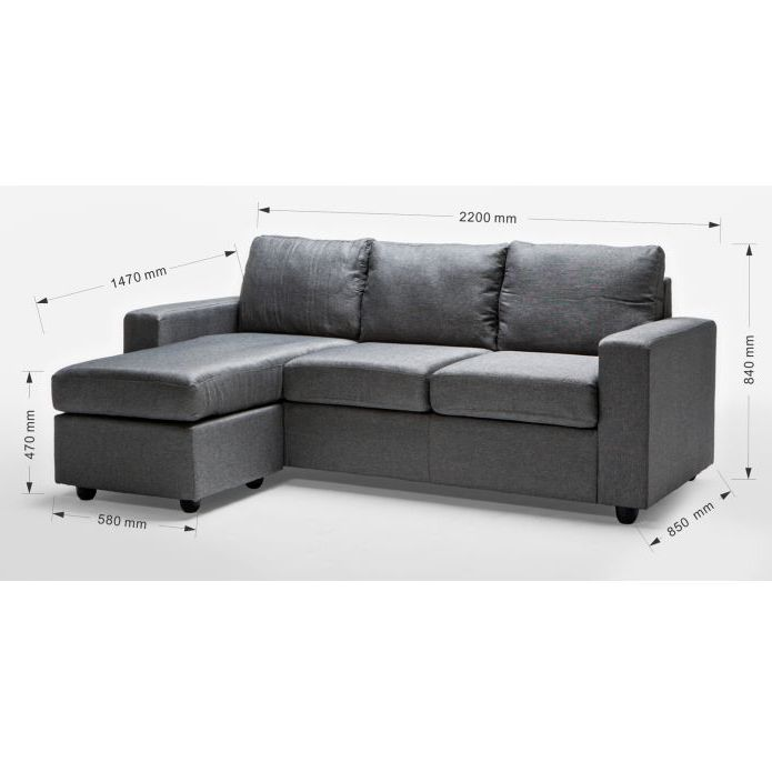 Couch · Ella 3 Seater Sofa Couch with Chaise ...  sc 1 st  Pinterest : 3 seater couch with chaise - Sectionals, Sofas & Couches