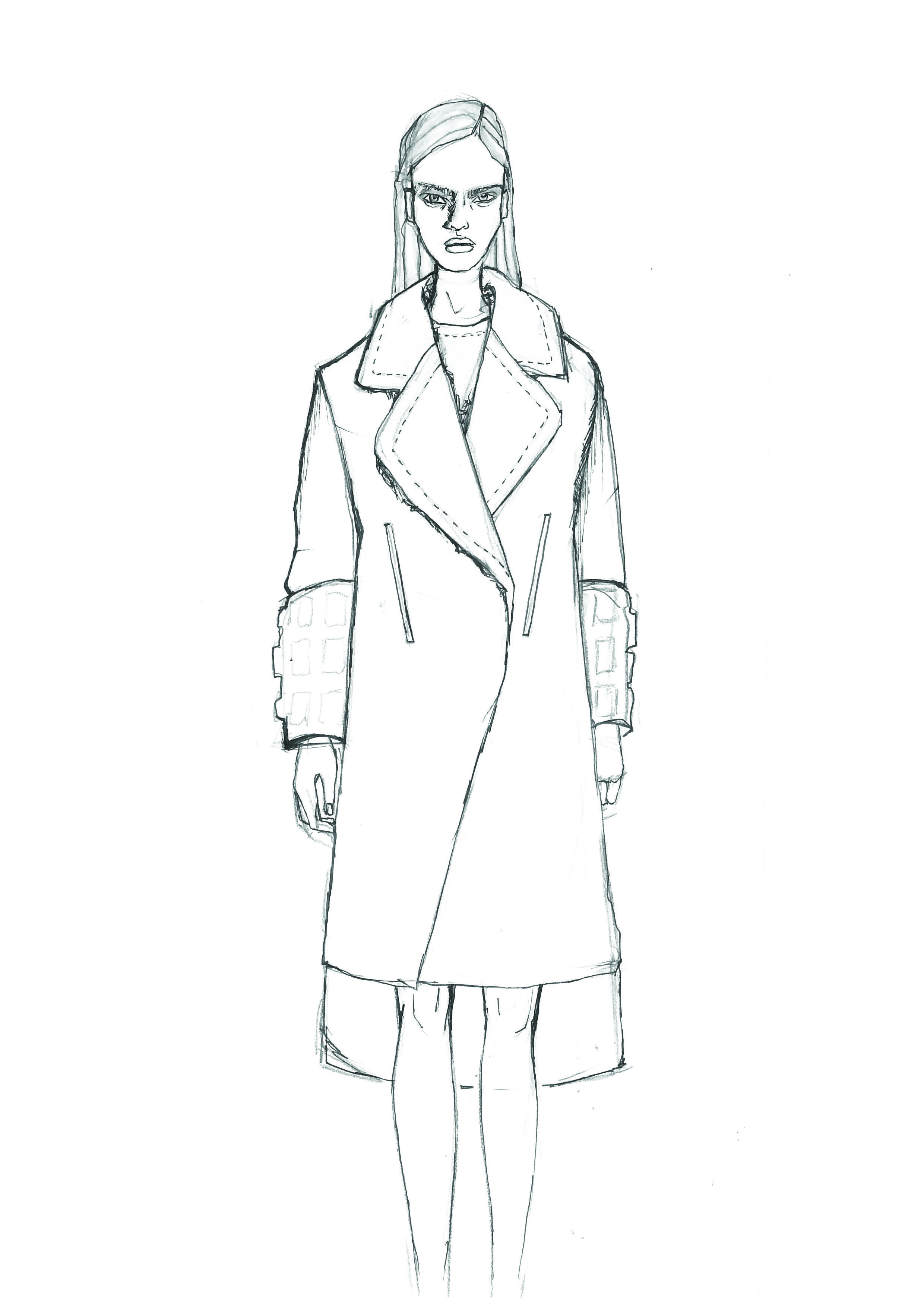 Fashion Illustration _ Design and Sketch by Leana Zimmermann