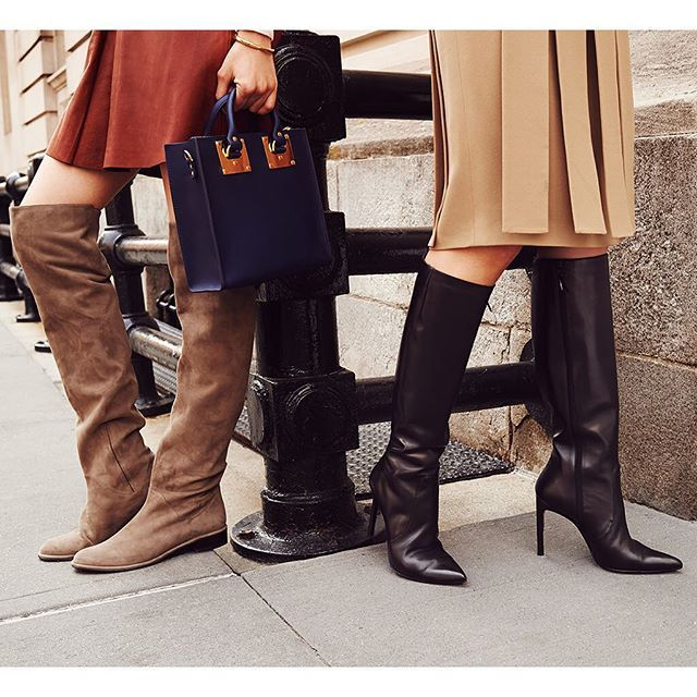 Choose knee-high #boots to compliment your '70s inspired #skirt or dress. @StuartWeitzman by shopbop