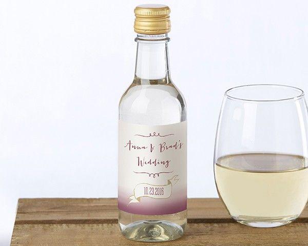 Personalized Mini Wine Bottle Labels - Vineyard