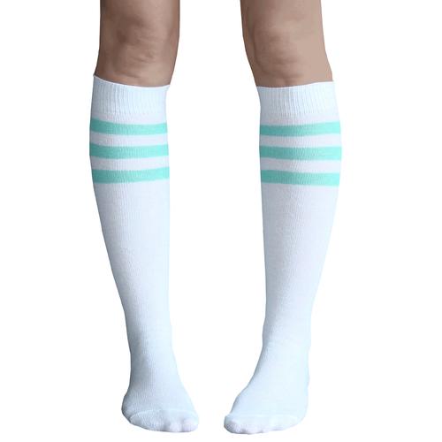 37fb84f25 White and mint green knee high tube socks. Chrissy s Socks 877-862-6267