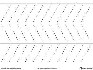 Line Tracing Diagonal Lines
