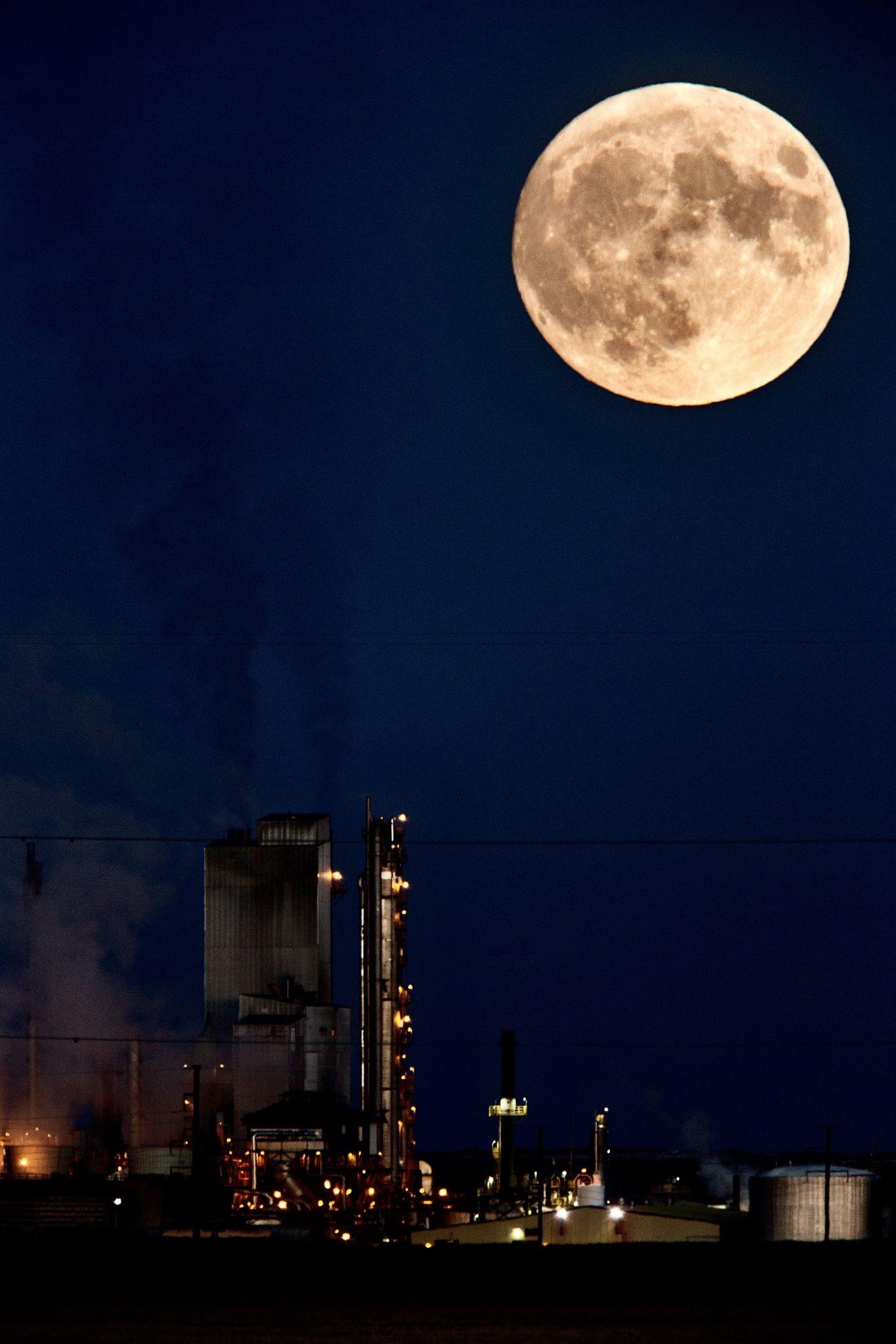 Canada Super Moon Belle Plaine Saskatchewan It Must Have Been