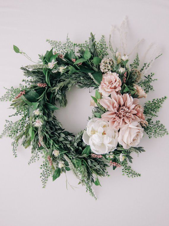 Photo of Get inspiration here to make 20 Affordable Spring Wreaths and Garlands.