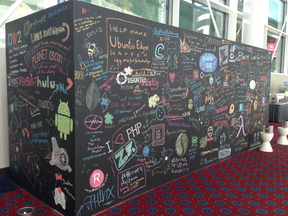 Interactive Chalkboard wall  Tradeshow Booth Ideas