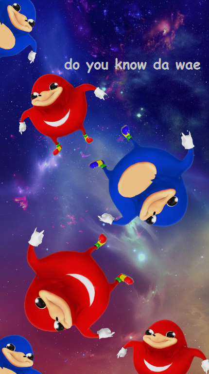 Uganda Knuckles Hd Wallpaper For Ios Created By Josephthegamer Funny Wallpapers Cute Wallpapers Cartoon Memes