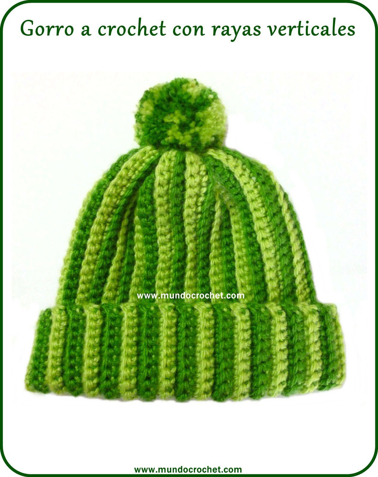 Gorro a crochet rayas verticales. Patrón gratis y tutorial detallado ...