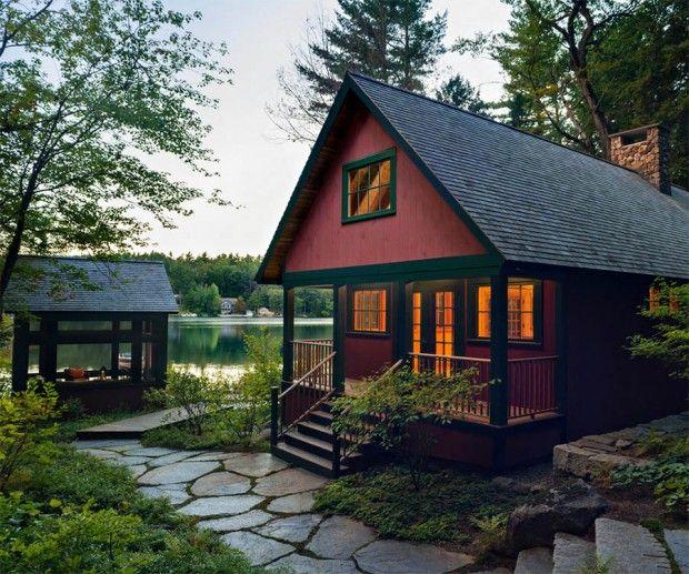 บ านร มน ำ ส ส นสดใส และความเย นอ นสดช น บ านไอเด ย แบบบ าน ตกแต งบ าน เว บไซต เพ อบ านค ณ Waterfront Homes Lake House House