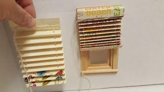 thealliancetrader design blog: DIY Dollhouse Miniature Tutorial for Paper Mini Blind #dollhouseminiaturetutorials