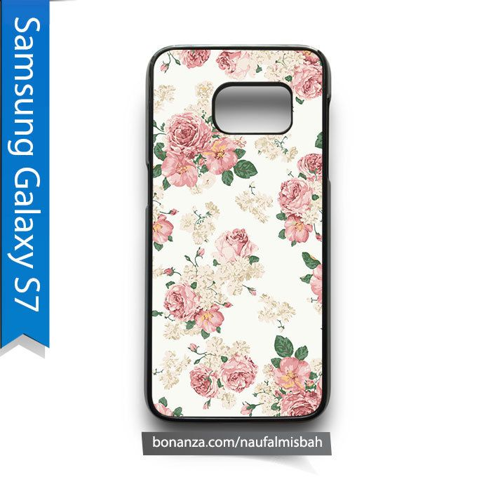 Vintage Pink White Roses Samsung Galaxy S7 Case Cover