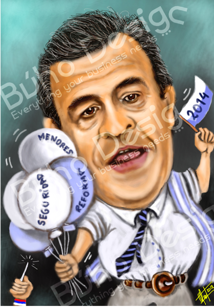 Caricatura Larrañaga By Búho Design & Caricatiras Uruguay  http://www.buhodesign.com.uy/ http://www.caricaturasuruguay.com.uy/