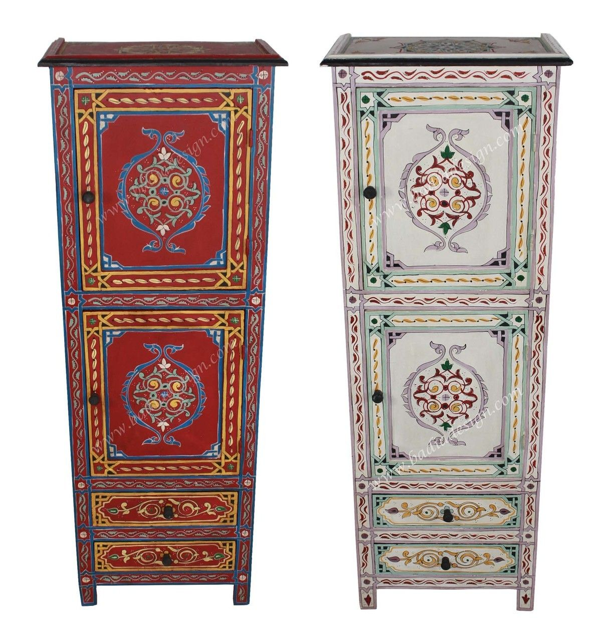 Tall Hand Painted Wooden Cabinet Hp Ca036 Diy Home Furniture Wooden Cabinets Painted Furniture