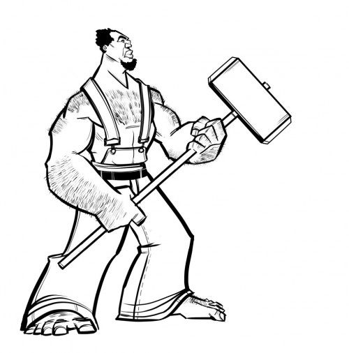 John Henry Coloring Page Coloring Pages Tall Tales Color