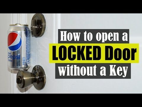How To Open A Locked Door Without A Key Youtube Life Hacks Youtube Key Diy Door Locks