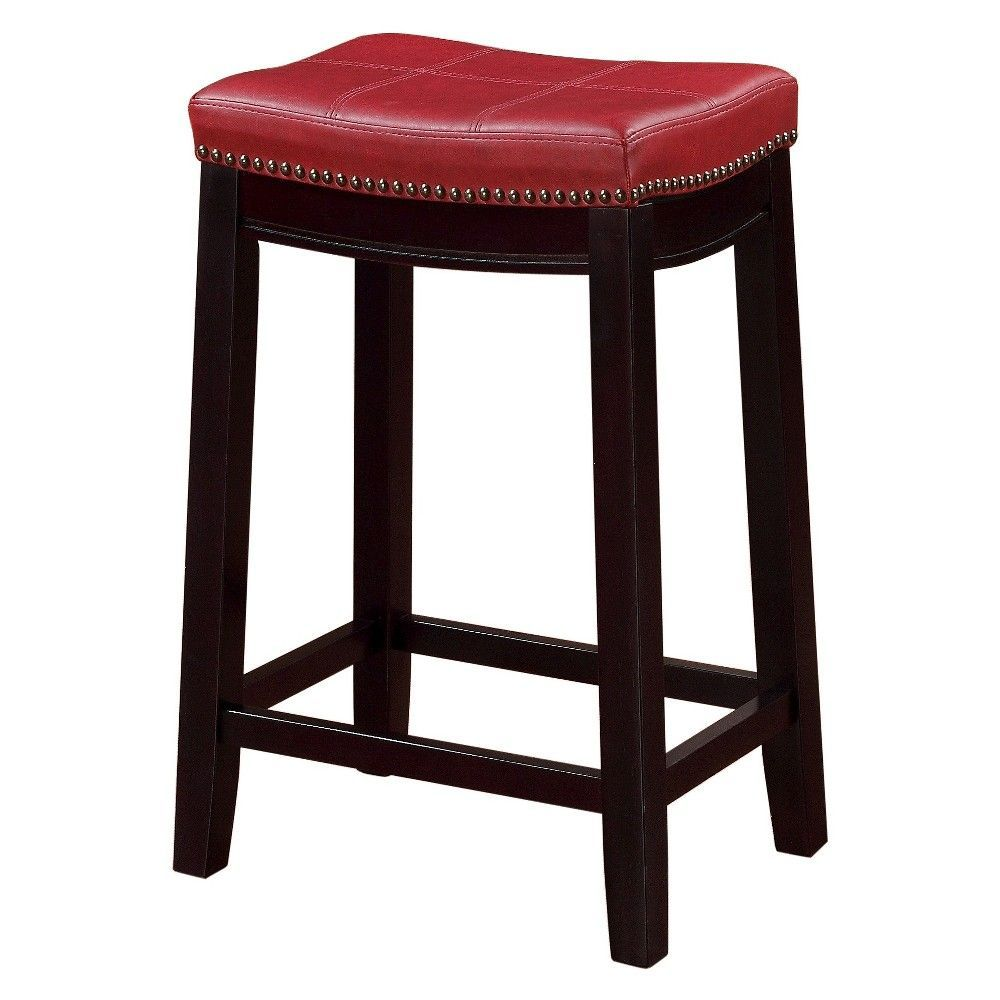 Surprising Claridge Leather Saddle 26 Counter Stool Red Products Pdpeps Interior Chair Design Pdpepsorg