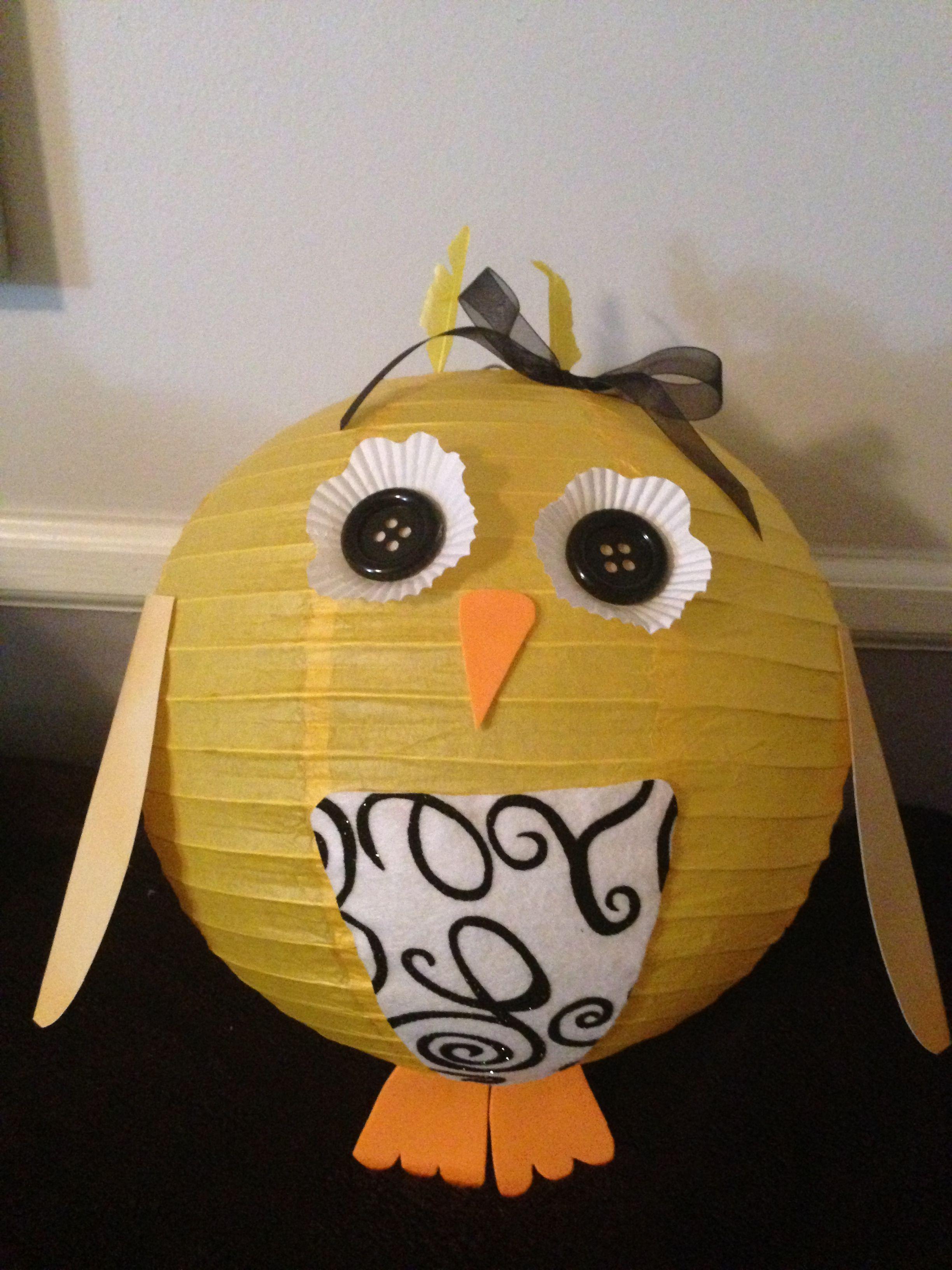Owl Paper Lantern Cute Decoration