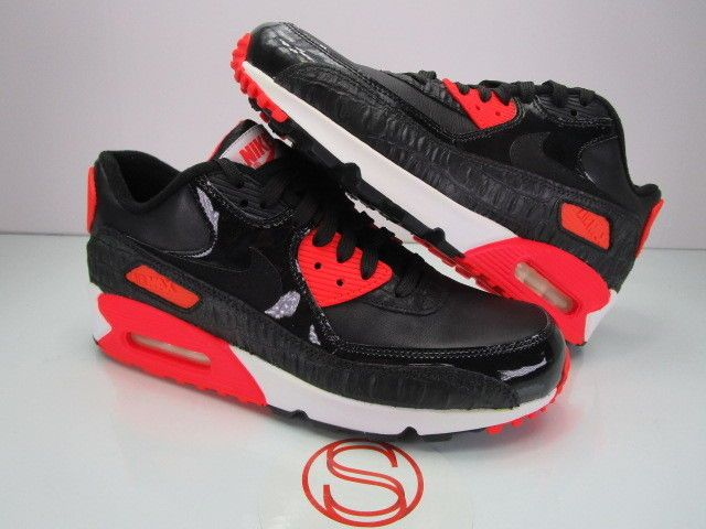 d0ef85bf66a DS Nike Air Max 90 CROC INFRARED BLACK 9  fashion  clothing  shoes ...