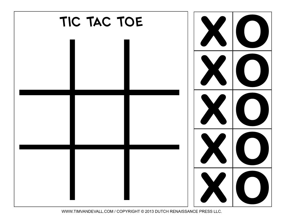 Pin On Tic Tac Toe Game Printables