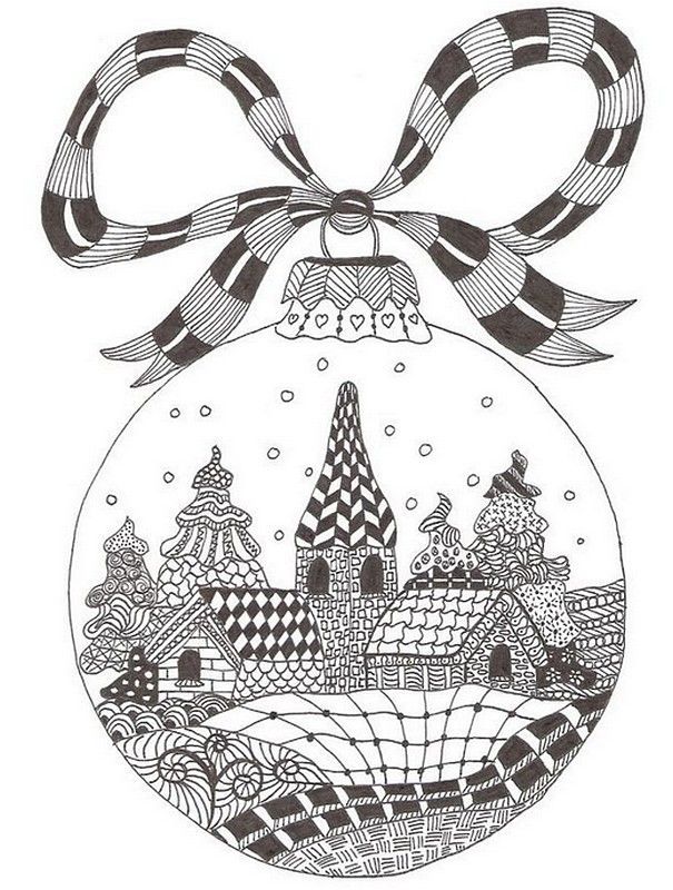 Ausmalen Erwachsene Weihnachten Zentangle Ideas Adult Coloring