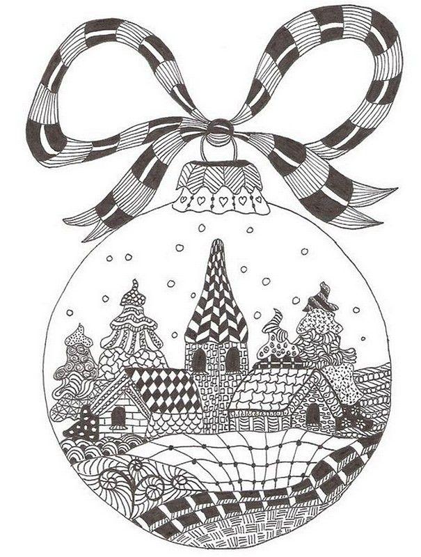 Ausmalen Erwachsene Weihnachten | Zentangle Ideas | Pinterest ...