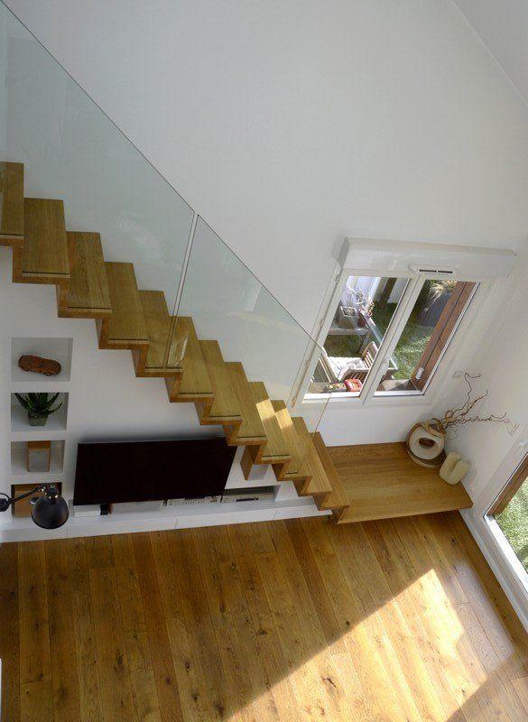 Meuble tv et biblioth que sous escalier linea rangement autour de l 39 escalier en 2019 meuble - Meuble tv sous escalier ...