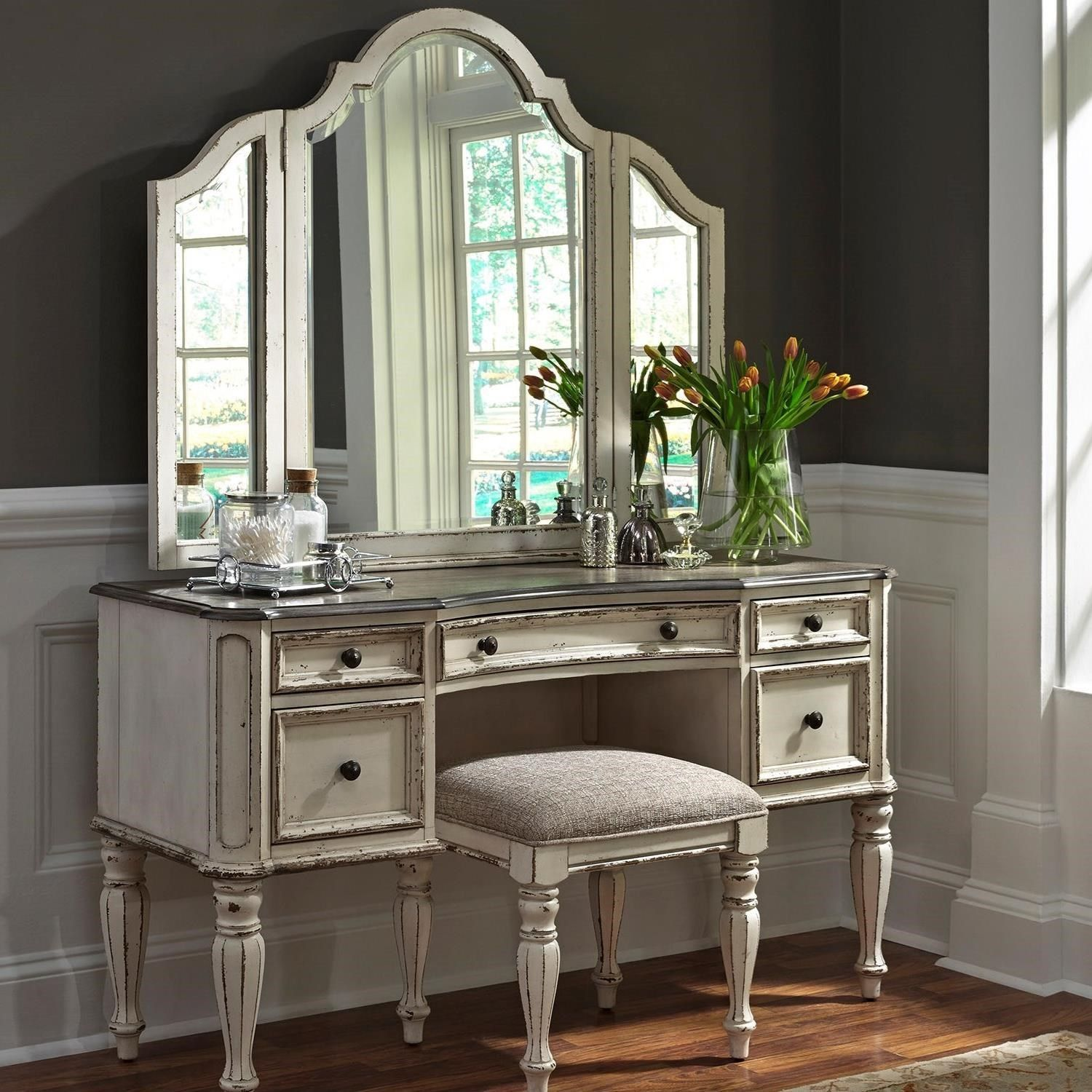 white fancy storage decorations jewelry and mirror lift design vanity cappuccino house modern set dresser hidden with