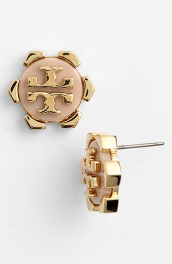 Tory Burch Walter Logo Stud Earrings Available At Nordstrom