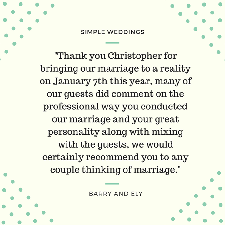 Congratulations Barry and Ely Sawyers!   Remove the fuss and cost from your wedding. Call us on 1300 668 459 or book now at http://bit.ly/1RNpOLA