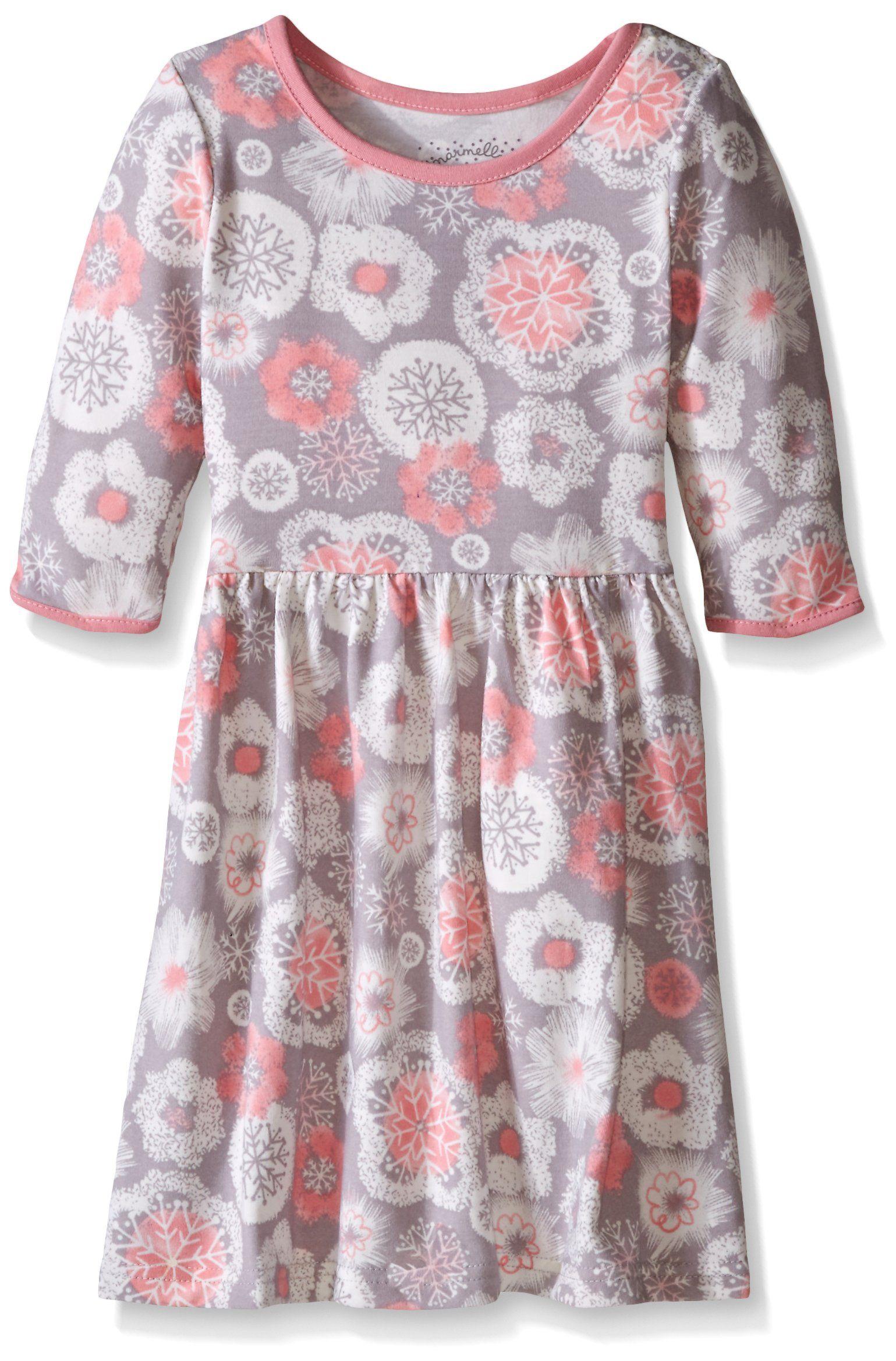Marmellata Little Girls Toddler Snowflake Knit Dress Multi 2T