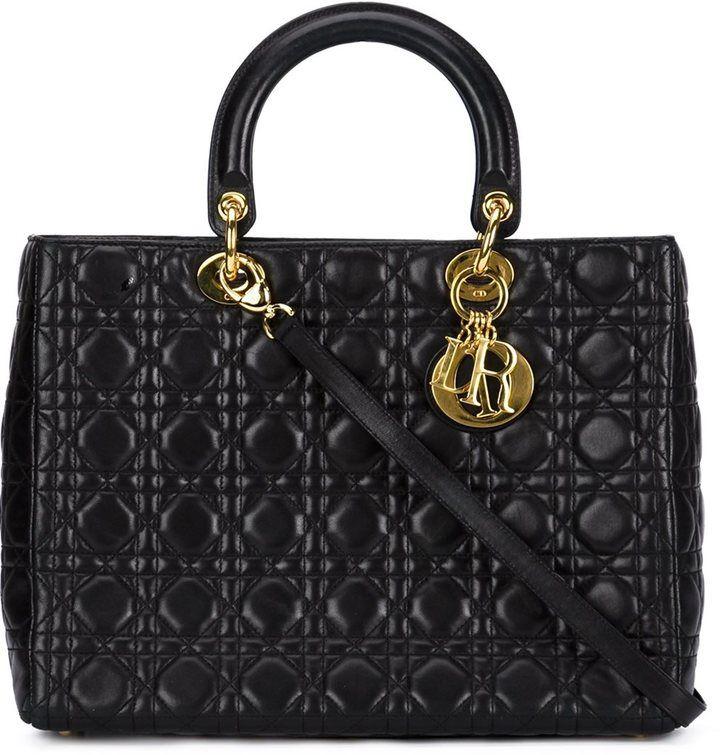 Christian Dior Vintage Grand Sac A Main Lady Dior Vintage Designer Bags Lady Dior Christian Dior Vintage