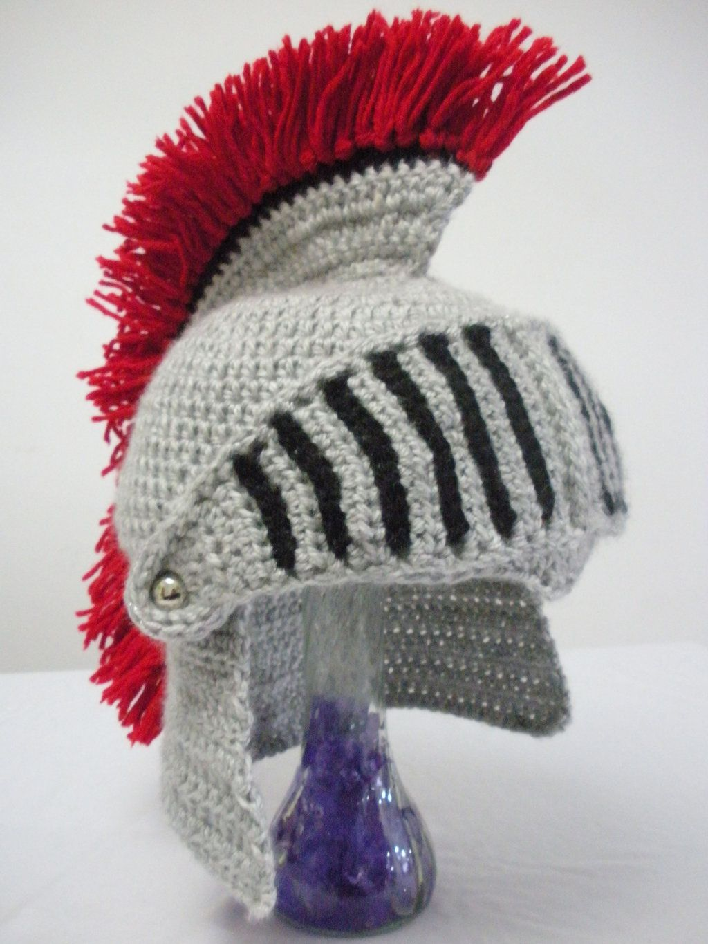 Crocheted Knight Helmet with Movable Visor by melibusla.deviantart ...