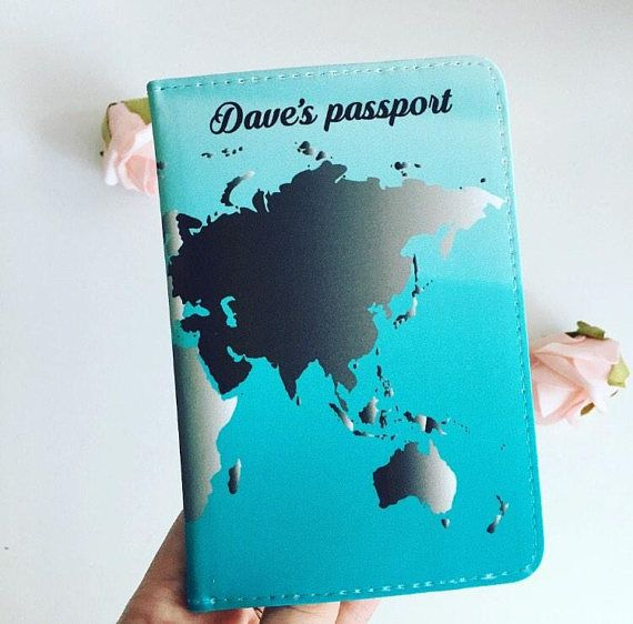 Mens world map personalised passport cover world map gifts mens world map personalised passport cover world map gumiabroncs Choice Image
