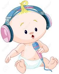 Resultado De Imagen Para Dibujos De Bebes Con Auriculares Drap Enfant Carte Felicitation Bebe