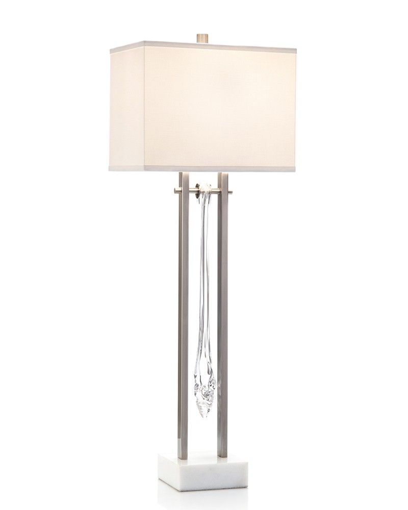 Buffet lamps shades - Glass Drops Contemporary Buffet Lamp Portable Lighting Lighting Our Products